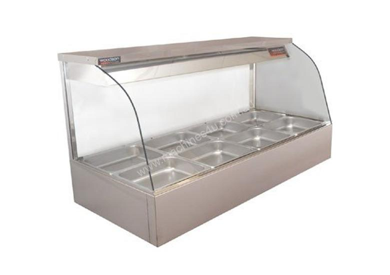 Woodson W.HFC25 Hot Food Bar - Curved Glass 1680mm