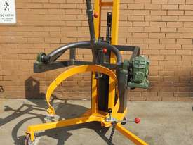 Power Lifter and Rotating 300kg Drum Lifter / Rotator Lift Height 1500mm - picture0' - Click to enlarge