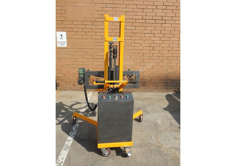 Power Lifter and Rotating 300kg Drum Lifter / Rotator Lift Height 1500mm