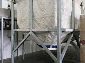 Large Portable Stainless Steel Frame Bag Silo - picture0' - Click to enlarge