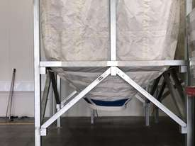 Large Portable Stainless Steel Frame Bag Silo - picture6' - Click to enlarge