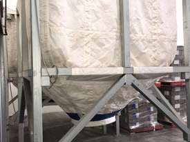 Large Portable Stainless Steel Frame Bag Silo - picture9' - Click to enlarge