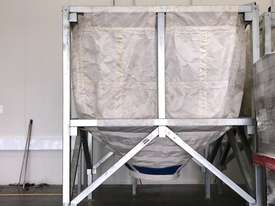 Large Portable Stainless Steel Frame Bag Silo - picture10' - Click to enlarge