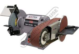 X8-PLUS Industrial Bench Grinder with Linisher & Mitre Table Package Deal Ø200mm Fine & Coarse Whee