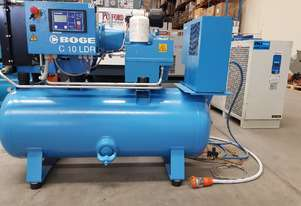 PACKAGED SCREW COMPRESSORS Including AIR DRYERS/AIR TANKS + OIL FREE SILENT AIR COMPRESSORS 240v
