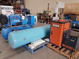 CHAMPION 11Kw + BOGE 7.5Kw + INGERSOLL RAND 37Kw SCREW COMPRESSORS + OIL FREE SILENT 240v - picture2' - Click to enlarge