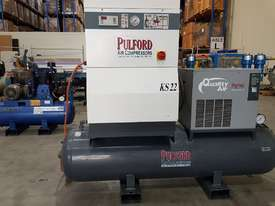 SCREW AIR COMPRESSOR PACKAGES INCL AIR DRYERS/AIR TANKS - SAVE $000's. OIL FREE SILENT COMPRESSORS - picture8' - Click to enlarge