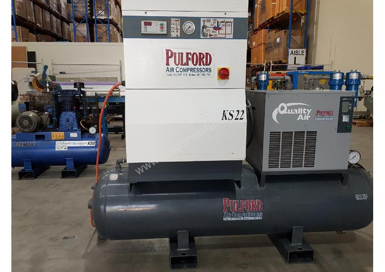 SCREW AIR COMPRESSOR PACKAGES INCL AIR DRYERS/AIR TANKS - SAVE $000's. OIL FREE SILENT COMPRESSORS