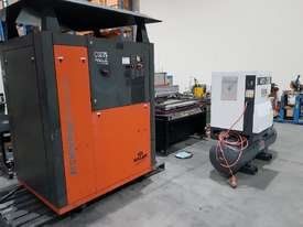 SCREW AIR COMPRESSOR PACKAGES INCL AIR DRYERS/AIR TANKS - SAVE $000's. OIL FREE SILENT COMPRESSORS - picture11' - Click to enlarge