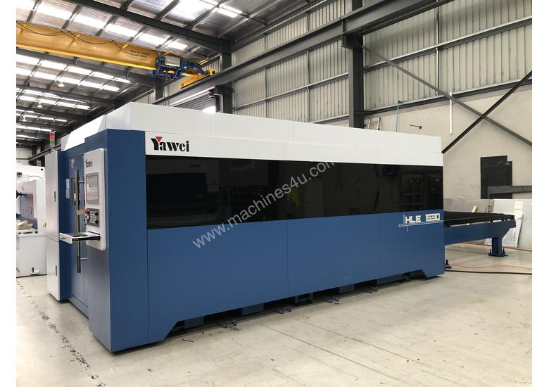 In stock. Ready for immediate sale. Yawei HLE-1530 2kW fiber laser. Machines across the country.