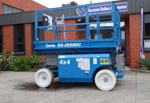 USED / REFURBISHED 2001 GENIE GS2668DC ELECTRIC SCISSOR LIFT