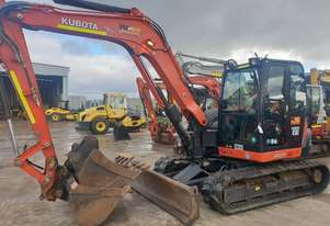 2017 KUBOTA KX080 8.2T EXCAVATOR WITH LOW 1996 HOURS AND RUBBER TRACKS