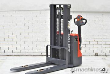 1T Full Electric Walkie Stacker Max Lift Height 2000mm