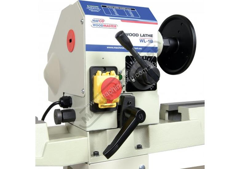 WL-18 Swivel Head Wood Lathe 310mm Swing x 900mm Between Centres
