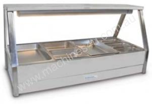 Roband E24 Double Row Straight Glass Hot Foodbar W