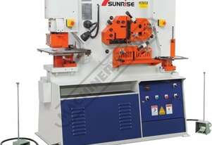 IW-80S Hydraulic Punch & Shear - 80 Tonne Dual Hydraulic Cylinders with Independent Operating Statio