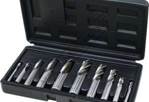 M3321 Imperial HSS Slot Drill & End Mill Set - 10 Piece Ø1/4