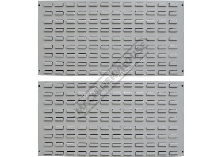 LP-900P Industrial Louvre Wall Backing Panels Package Deal 900 x 456 x 20mm - 2 Piece Includes 43 Pl