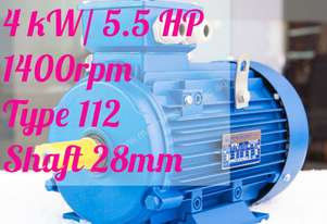 4kw/5.5HP 1400rpm shaft 28mm  motor Three-phase