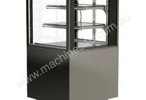 FPG 3A06-SQ-FS-SD Ambient Square Freestanding Display w/Sliding Glass Door - 593mm
