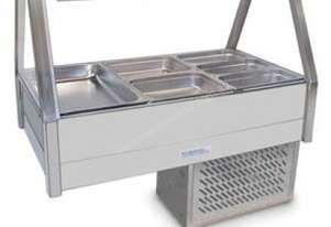 Roband ERX23RD Straight Glass Food Bar - Refrigerated Cold Plate & Cross Fin Coil
