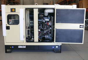 Kohler KD77IV 77kVA  Diesel Generator Enclosed Cabinet John Deere Powered