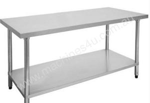 F.E.D. 1200-7-WBB Economic 304 Grade Stainless Steel Table with splashback 1200x700x900