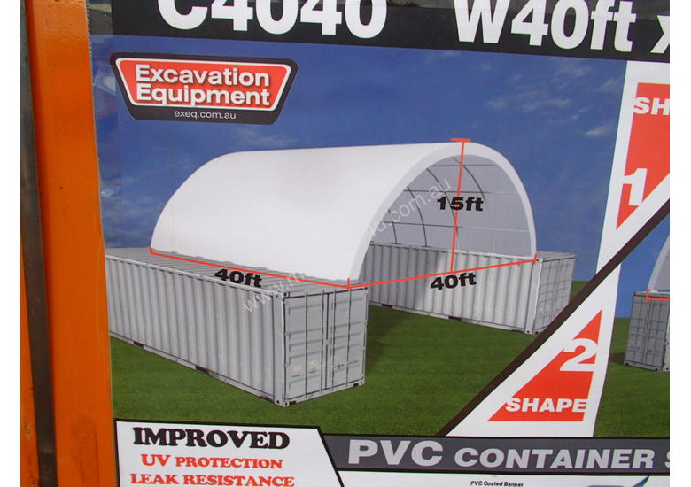 40ft x 40ft x 15ft Container Shelter