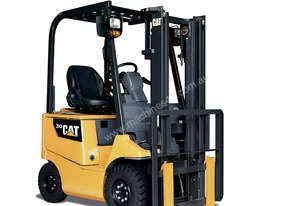 Caterpillar 4-Wheel Electric Counterbalance Forklift 1 - 3T