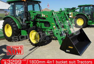 1800 mm 4 in 1 Bucket suit Tractor Front End Loader ATT4IN1