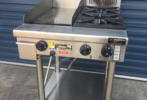 GOLDSTEIN PFB12G2 2 Burner Cook Top + 300mm Griddle