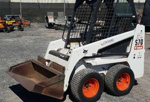 Bobcat S70 Skidsteer with Pallet Forks & Bucket