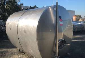 7,200ltr Insulated & Jacketed Stainless Steel Tank
