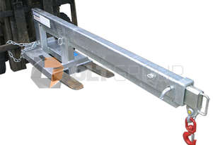 2500kg Forklift Jib Long Slip On Style Forklift Jib Attachment Extends to 3.5m long