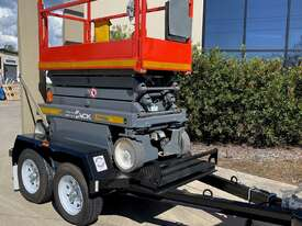 19ft Electric Scissor Lift & New Scissor Lift Trailer Package - picture0' - Click to enlarge