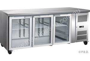 F.E.D. GN3100TNG Three Glass Door Under Bench Fridge