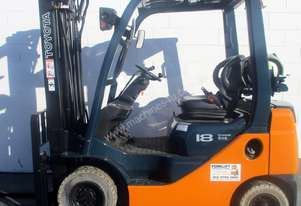 Toyota 1.8 ton 5 meter Container mast forklift