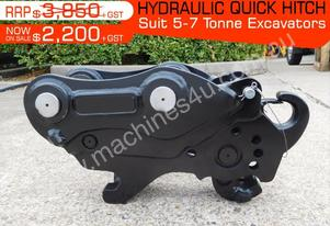 Hydraulic QUICK HITCHES Suits 5 to7T Excavators