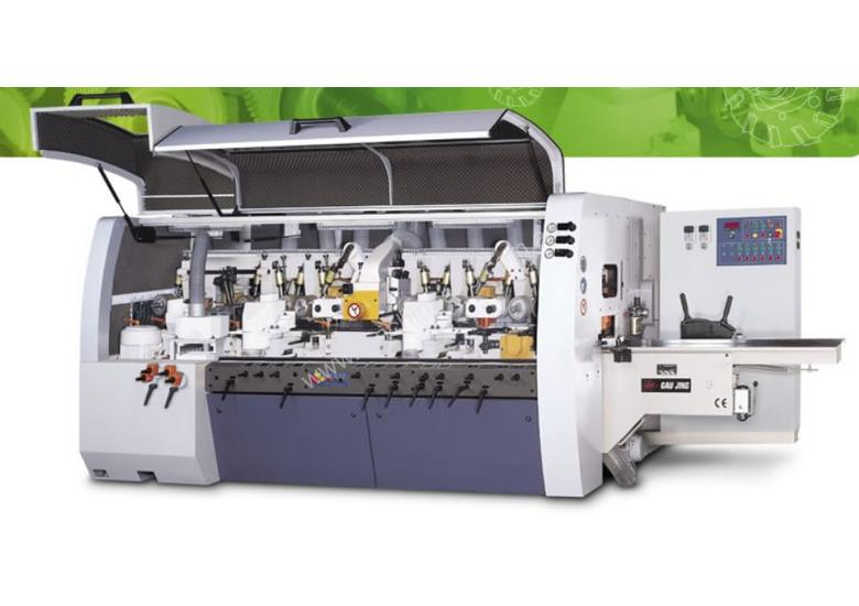 4 SIDER MOULDER - Designed and engineered for efficient machining for compound parquet.