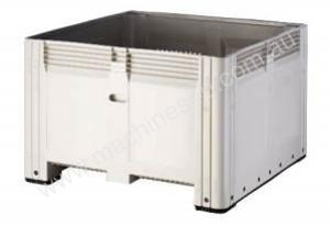 Plastic Pallet Bins Solid with lid option