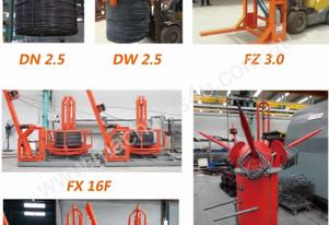 CNC rebar  lifting devices and pay-offs