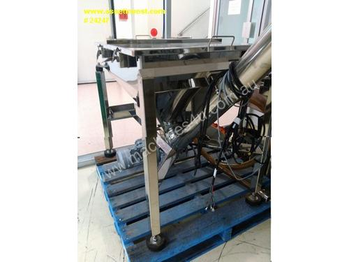 Stainless steel 150 litre hopper with 2.2 metre au