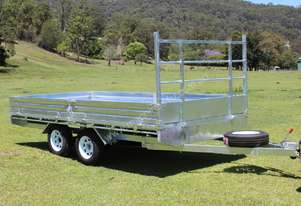 NEW Ozzie  Flat Top Trailer Hot Dipped Gal 14x7ft   3 Tonne