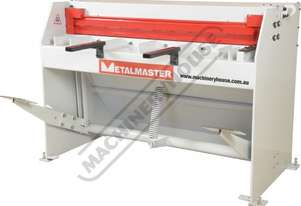 SG-416S Manual Treadle Guillotine 1300 x 1.6mm Mild Steel Shearing Capacity Fitted with Rear Safety