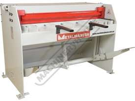 SG-416S Manual Treadle Guillotine 1300 x 1.6mm Mild Steel Shearing Capacity Fitted with Rear Safety  - picture3' - Click to enlarge