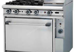 Trueheat Gas 4 Open Top Burners 300 Griddle Gas Oven R90-4-30GR