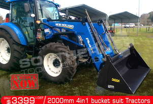 2000 mm 4 in 1 Bucket suit Tractor Front End Loader ATT4IN1