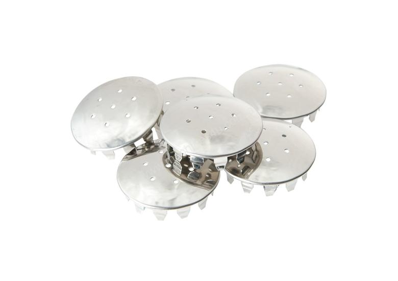 Stainless Steel Shaker Tops - 6Pack