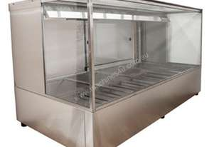 Woodson W.HFSQ25 Hot Food Bar - Straight Glass 1680mm