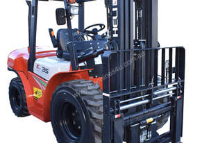 HELI 3.5T All Terrain Diesel Forklift Buggy with Fork Positioner and Container Mast - FOR SALE